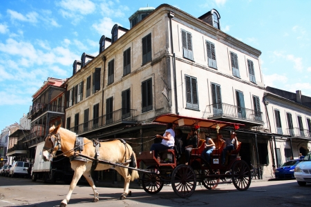 horse drawn carriage: Carriage in French Quarter  New Orleans