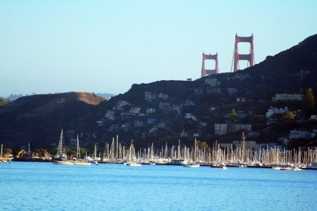 Beautiful Sausalito view  Behind the golden gate photo