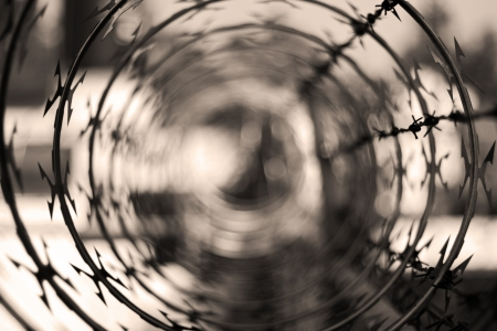 barbwire: Barbwire o abstract background Stock Photo