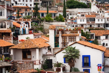 neighbourhood: Picture of Taxco, Guerrero a colorful town in Mexico