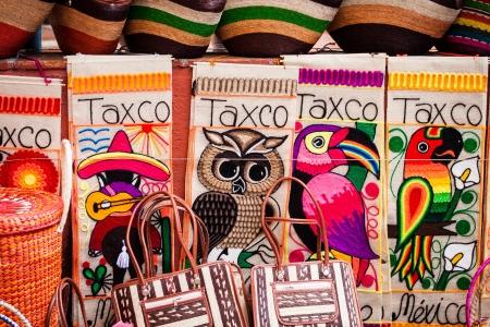 インドの敷物および毛布のカラフルなトレーディング ポスト ラテン アメリカで表示します。 写真素材