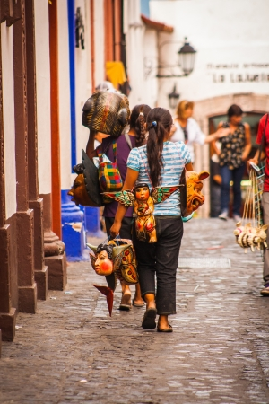 Vendors crafts in Taxco Guerrero  免版税图像