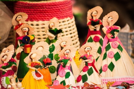 Picture of a group of beautiful mexican crafts  photo
