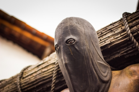 disguised: Hooded Medieval Executioner Stock Photo