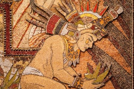 Mosaïque préhispanique de graines et de céréales Banque d'images - 21411158