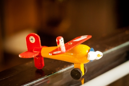 Airplane wood toy Stok Fotoğraf - 24555289