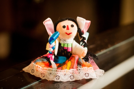 Little doll mexican traditional toy
