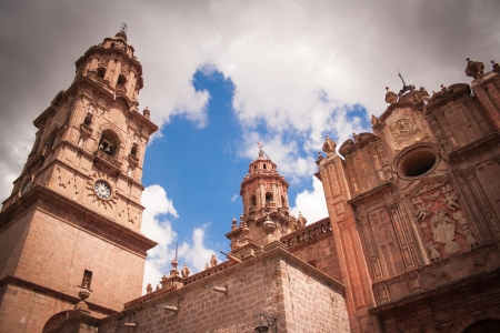 Picture of Morelias cathedral, Michocan, Mexico