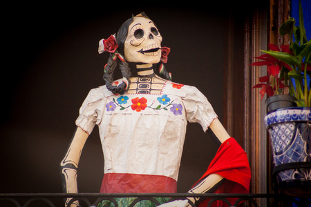 Traditional mexican Day of the dead catrina