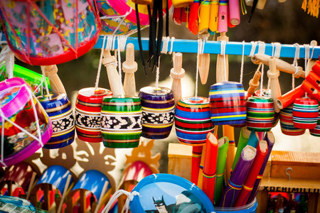 Set of traditional mexican toys 免版税图像