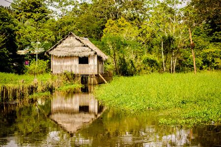 アマゾナス州のジャングルの伝統的な家