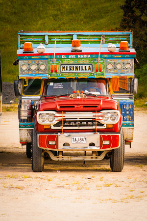 pictoresque: Picturesque, traditional and colorful truck at Marinilla Colombia. Editorial