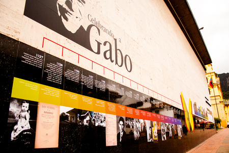 Tribute wall to Gabriel García Marquez GABO