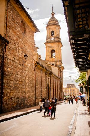 ボゴタ, コロンビアの大聖堂。カンデラリア 報道画像