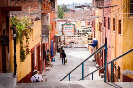 world village: Traditional colonial streets of San Miguel de Allende
