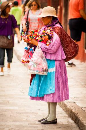 Native traditional vendors at san miguel
