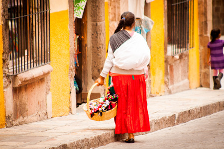 Native traditional vendors at san miguel