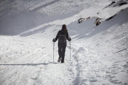 nevado: Hiker at Nevado de Toluca in Central Mexico.