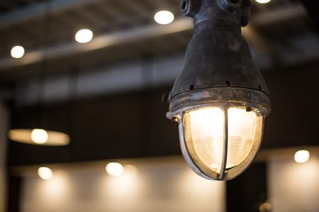Stylish interior industrial lamp.