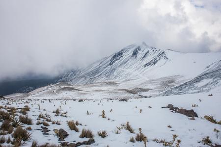 nevado: View of Nevado de Toluca in Central Mexico.