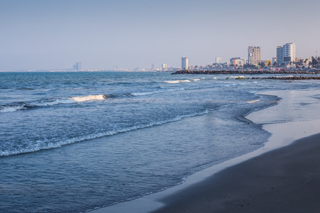 gulf: Sunset over the Gulf of Mexico, in Veracruz, Mexico.