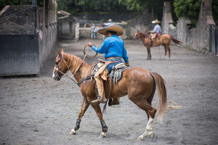 Traditional Rodeo Show in Mexico City.