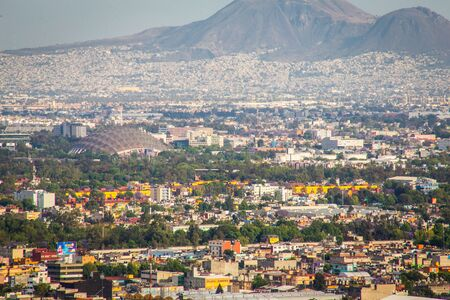 Aerial view of mexico city.