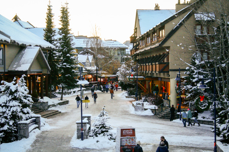 Whistler, BC / Canada. 11/30/11. Whistler village in the winter.