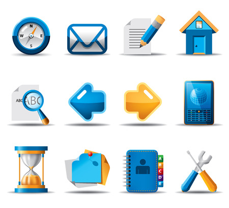 Blue Orange Icons Vector