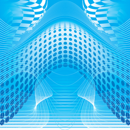 abstract blue background Stock Vector - 8214869