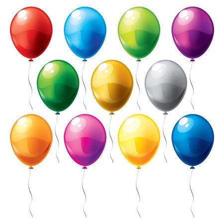 flying balloon: balloons Illustration