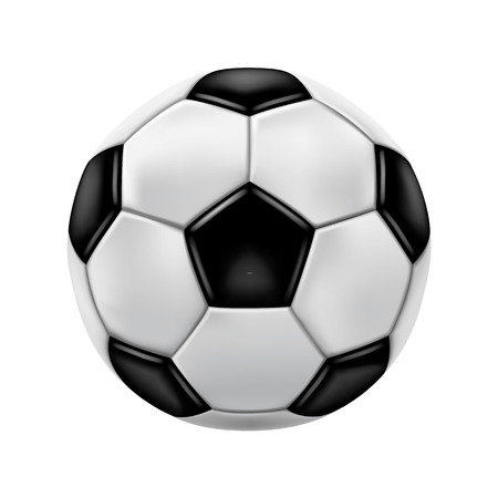 ballon foot: ballon de soccer Illustration
