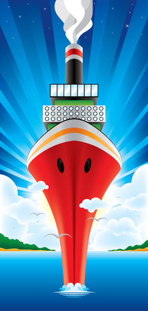 the bigest ship on the world Illustration