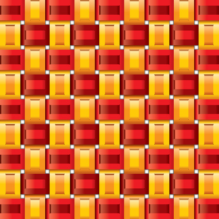 range red yellow gingham seamless patterns Stock Vector - 8214920