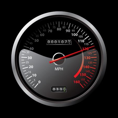 black speedometer Stock Vector - 8214899