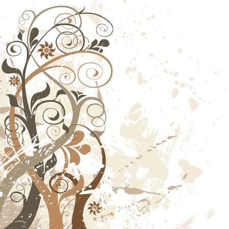 autmn: vector floral background