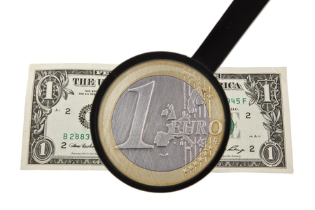 attenuation: magnifier, euro and dollar
