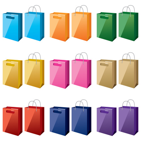 shopping-bags-in-different-colours Vector