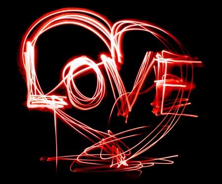 neon love photo