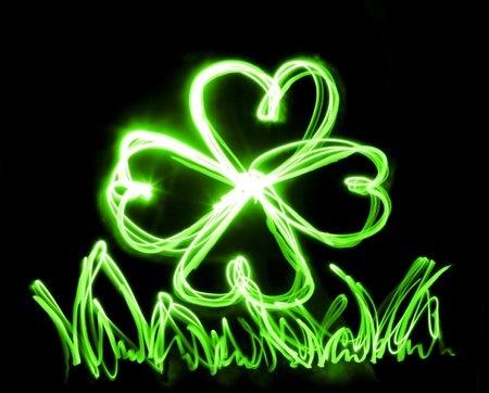 neon green: neon lucky Stock Photo