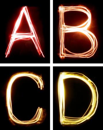 letras negras: letras pintadas con luz