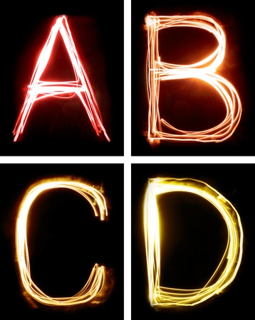 letter d: letters painted with light
