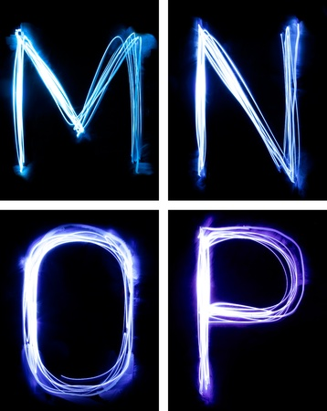 letters painted with light Stock Photo - 8710328