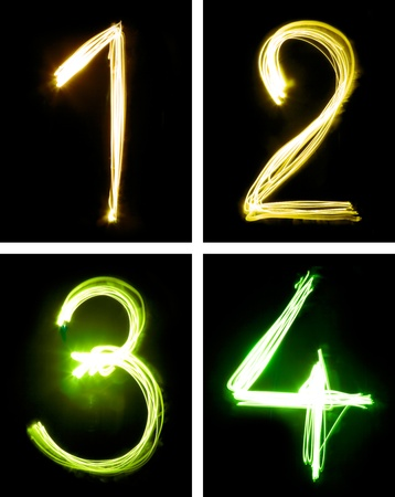 letters painted with light photo