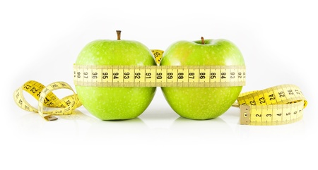 two apple and meter Stock Photo