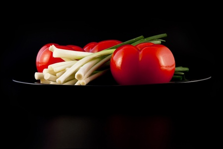 ingradient: onions and tomatoes