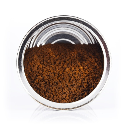 instant coffee: cans of instant coffee