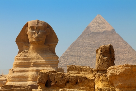 The Sphinx and Pyramid of Khafre photo