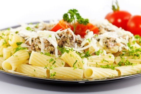 pasta with sauce Stock Photo - 12332576