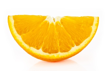 Four juicy, beautiful, large orange and one half, on a white background. photo
